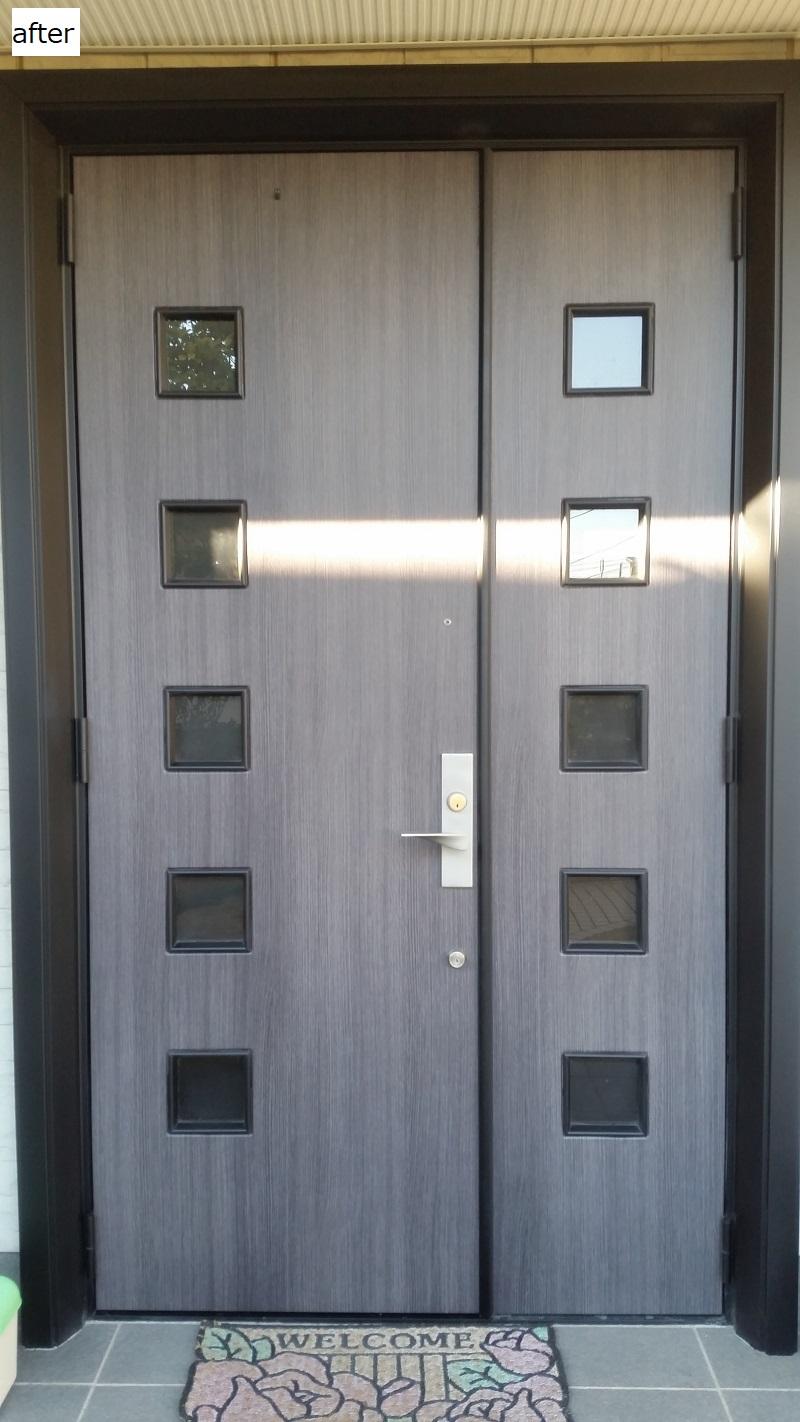 神奈川県茅ヶ崎市 個人宅 玄関ドア施工 ウインドウフィルム施工 窓